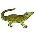 crocodile alligator zen tangle vector image vector image