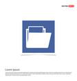 data folder icon - blue photo frame vector image