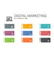 digital marketing infographic 10 option line vector image vector image