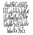 doodle simple grunge font hand drawn letterss vector image