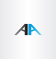 Double letter a aa logo icon vector image