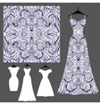 Dress silhouette with tribal linear seamless vector image vector image