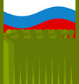 february 23 background russian military salute vector image vector image