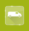 flat style minivan car silhouette icon vector image vector image