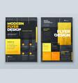flyer design dark yellow modern background vector image vector image