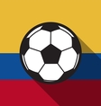 football icon with Colombia flag or Ecuador flag vector image vector image