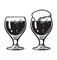 goblet beer glass hand drawn vector image vector image