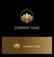 gold asian lotus flower beauty logo vector image vector image