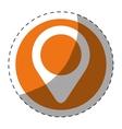 gps pin button thumbnail icon image vector image vector image