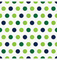 green and blue polka dots on white background vector image vector image