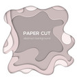 grey abstract layout - paper cut vector image