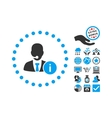 Help Desk Flat Icon With Bonus vector image vector image