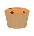 isolated muffin image vector image vector image