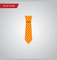 isolated necktie flat icon clothing vector image vector image