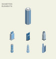 isometric construction set of tower residential vector image vector image