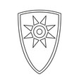 line art black and white fairytale shield vector image vector image