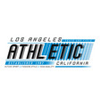 los angeles athletic sport vector image vector image
