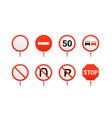 main regulatory traffic signs isolated on white vector image