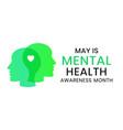 mental health awareness month banner template vector image