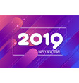 new year card gradient purple shapes composition vector image