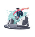 nimble guy street racer vector image