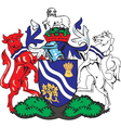 Oxfordhire County Coat-of-Arms vector image vector image