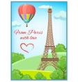 Paris Post Card vector image vector image