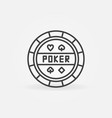 poker chip outline concept round icon vector image vector image