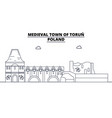 poland - torun travel famous landmark skyline vector image vector image