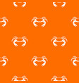 raw crab pattern seamless vector image vector image