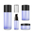 realistic blur glass jar with plastic lid for vector image vector image