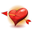 red heart icon pierced by arrow vector image