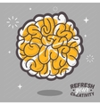 Refresh Your Creativity Human Brain View Combined vector image vector image
