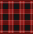 seamless black red tartan with white stripes vector image vector image