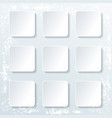 set empty square buttons with shadow isolated vector image vector image