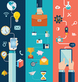 set flat design concepts for website layo vector image vector image