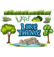 set of nature element vector image vector image