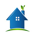 simple house green environment icon vector image vector image