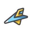 space ship ufo icon cartoon vector image