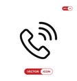 telephone call icon vector image vector image