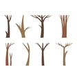 tree trunk vector image vector image
