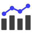 trend chart flat icon symbol vector image