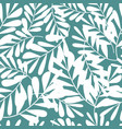 tropical pattern floral background palm leaves vector image vector image