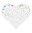 umbrella fireworks heart vector image vector image