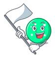 with flag circle mascot cartoon style vector image