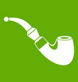 wooden pipe icon green vector image vector image