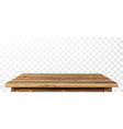 wooden table top with aged surface realistic vector image
