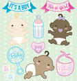 Heres Baby Collection vector image