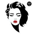 woman face fashion portrait vector image