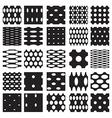 Set of elegant dot patterns vector image